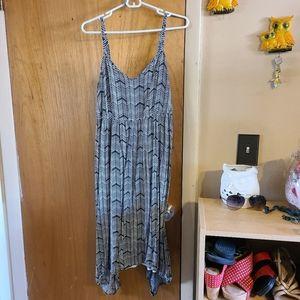Torrid chevron black and gray handkerchief dress